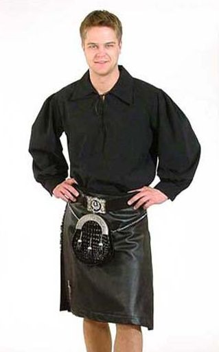 black leather kilt - scot web