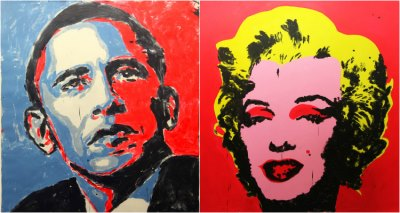 brent ray fraser - painting obama2