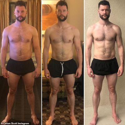 calum scott shirtless body weight loss