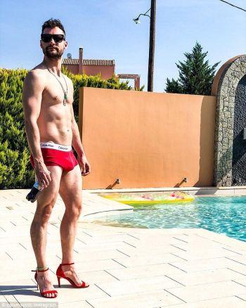 calum scott underwear - red boxer briefs