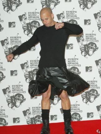 leather kilt 2015 - vin diesel at 2003 mtv europe awards2