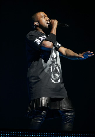 mens leather kilt 2015 - kanye west