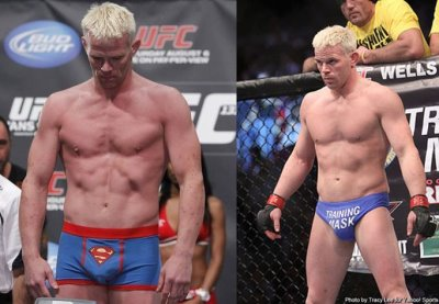 mma underwear - Dennis Hallman speedo and superman boxer briefs