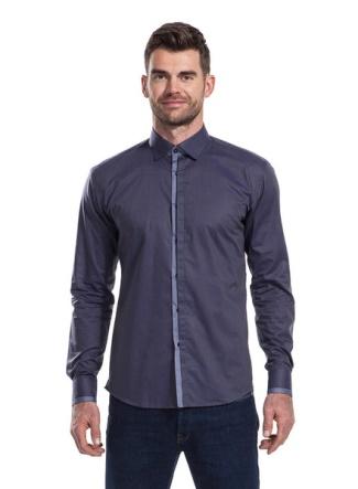 James Anderson Menswear - indigo shirt