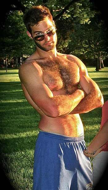 John Fenoglio shirtless body