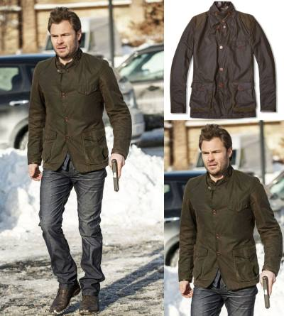 Patrick Flueger Adam Ruzek Chicago PD jacket - Barbour Commander Jacket3