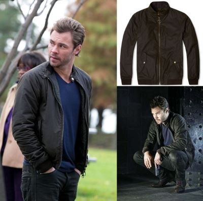 Patrick Flueger Adam Ruzek Chicago PD jacket - Barbour Steve McQueen Merchant Jacket2