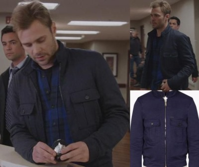 Patrick Flueger Adam Ruzek Chicago PD jacket - dsquared casual bomber2b
