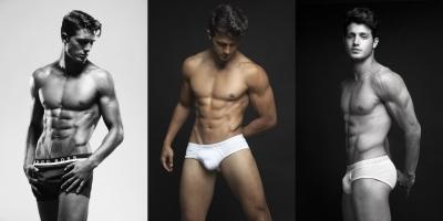 asaf goren underwear model - hugo boss boxers and ck white briefs