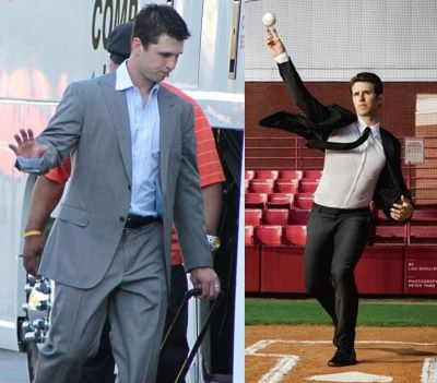 buster posey fit suit vs large suit