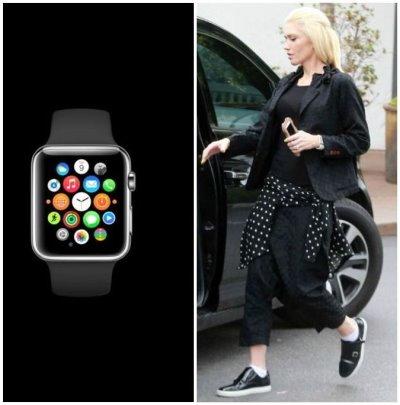 celebrities wearing apple watch - gwen stefani