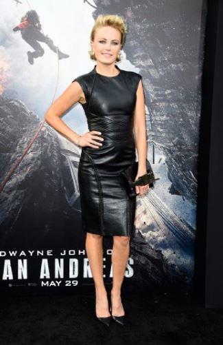 celebrity leather dress - malin ackerman