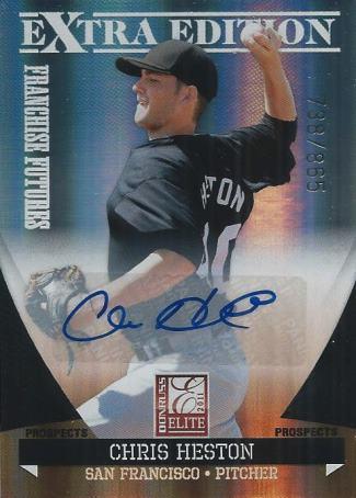chris heston baseball autograph