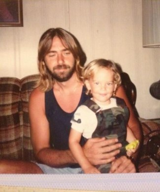 chris heston young boy with dad