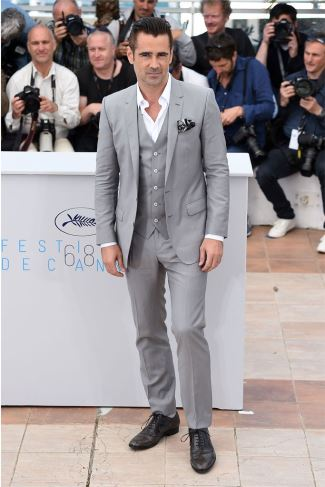 dolce gabbana celebrity supporters -  Colin Farrell In Dolce Gabbana – The Lobster Cannes Film Festival Photocall