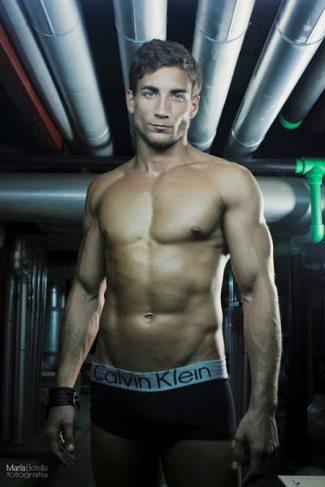 dr manuel rico modeling underwear - calvin klein boxer briefs