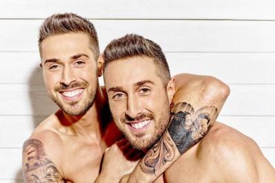 john and tony alberti shirtless twins - no clothes