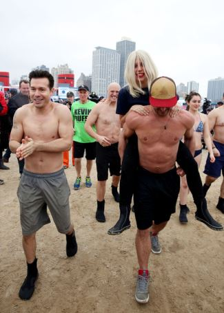 jon seda shirtless - Chicag Polar Plunge 2015