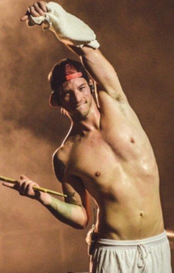 josh dun shirtless