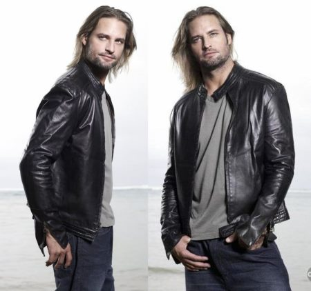 josh holloway leather jacket - sawyer in lost - james sawyer ford - front and back