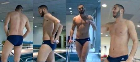 karim benzema speedo briefs swimsuit underwear