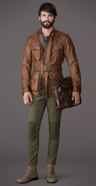 mens brown leather jackets 2015 - panther jacket by belstaff