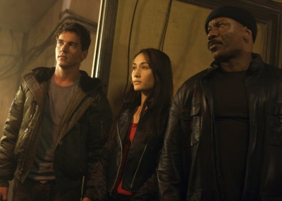 mission impossible iii leather jacket - Ving Rhames - Jonathan Rhys Meyers - Maggie Q