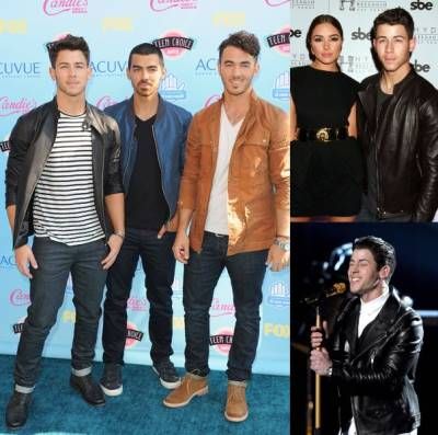 nick jonas leather jackets - Teen-Choice-Awards-2013 - acm awards - hyde bellagio 3yr anniv
