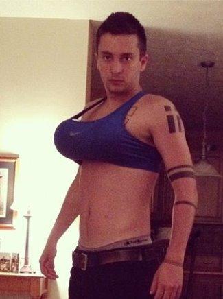tyler joseph gay - wearing bra