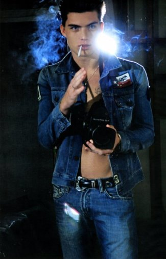 zane holtz model - levis jean jackets kaporal jeans