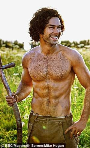 Aidan Turner shirtless - ross poldark