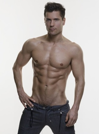 shirtless men in jeans - lukas ridgeston