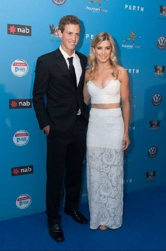 Vasek Pospisil and Eugenie Bouchard 2015 hopman cup ball