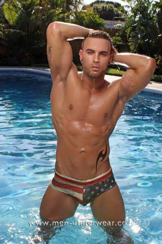 american flag speedo swim briefs - andrew corvin - The Clever Flag Swimsuit Brief