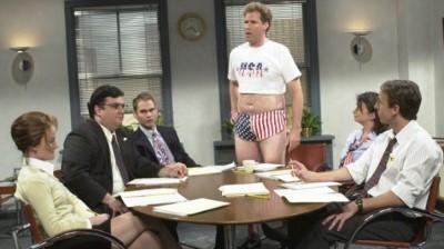 american flag underwear - will ferrell - snl