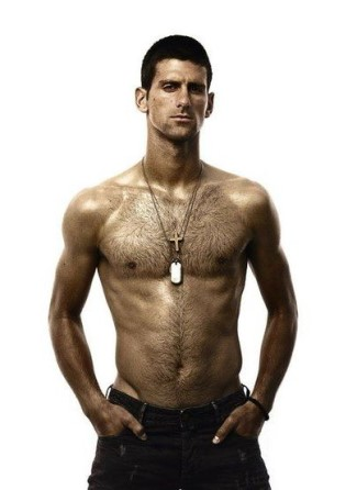 body hair men in 20s - novak djokovic