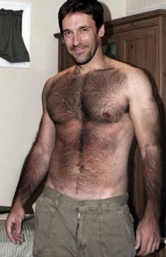 body hair men - jon hamm - fake or real