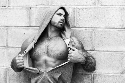 body hair muscle man - model jason sokody pic by RANDALL MESDON JASON SOKODY