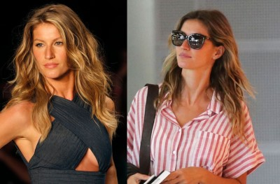 gisele bundchen plastic surgery - before and after breast enhancement