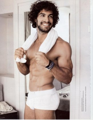 greek muscle god - Nikos Anadiotis in white underwear
