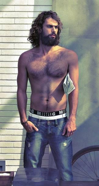 hot greek gods as underwear models - Spyros Christopoulos - mustang underwear