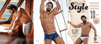 hot greek men as underwear models - George Parashos2