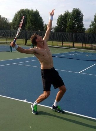 vasek pospisil shirtless tennis hunk