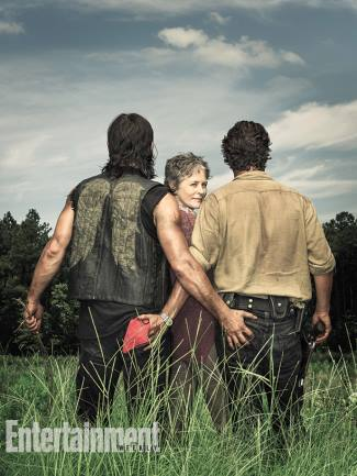 Andrew Lincoln gay with Norman Reedus - Melissa McBride