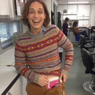 Matthew Gray Gubler pink underwear
