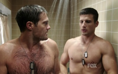 Parker-Young-Gay-or-Girlfriend-With-Geoff-Stults-in-Enlisted