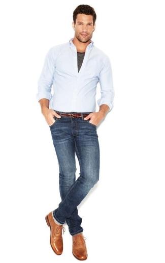 aaron oconnell - denim jeans model - blanco jeans brand