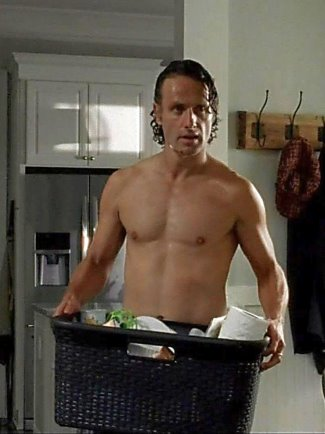 andrew lincoln body - shirtless