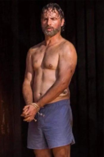 andrew lincoln underwear boxer shorts - rick grimes in walking dead