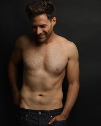 ben rappaport shirtless body in jeans